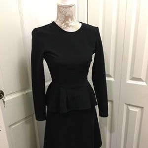 ASOS women's long sleeve black midi dress, US 0